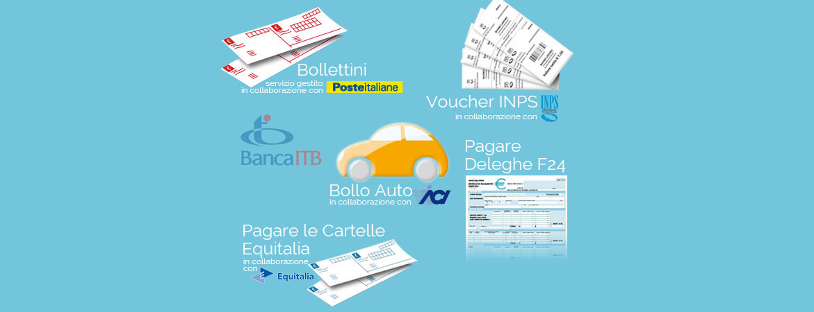 Da Tabacchi Marini A Colleferro, Grazie Alla Banca ITB, Puoi Effettuare Il  Pagamento Dei Bollettini Postali E Bancari Delle Deleghe F24, Del Bollo  Auto, ...